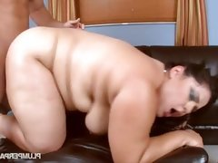 Bbw slut karla lane fucks two guys