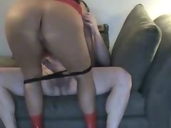 Hot chubby wife with big ass rides cock
