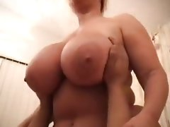Blonde bbw takes big cock