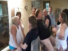Mature bbw sluts sucking cock in group..