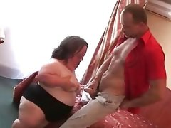 Ugly mature bbw midget sucks fucks and..