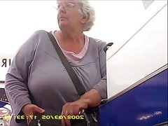 Granny with big butt band boobs