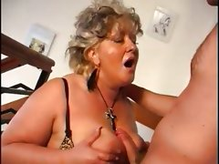 Sexy mom blonde mature bbw with a..