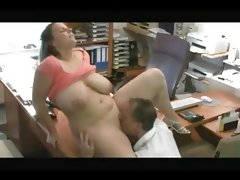 Fucking my horny fat chubby secretary..