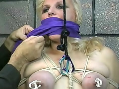 Tied up fatty fucked in the dungeon