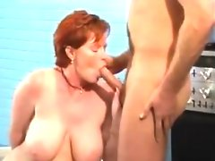 Mature redhead with saggy boobs wants..