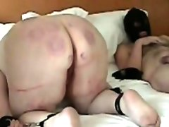 Big amateur booty beating