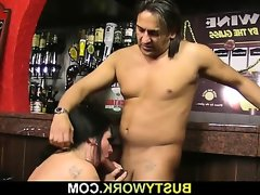 Huge barmaid take it from behind at..